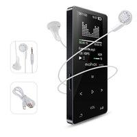 MP4 لاعبين معدن بلوتوث الرياضة مشغل MP3 المحمولة O 8GB مع مكبر صوت راديو FM مدمج قرحة مشغل موسيقى FLAC (أسود)