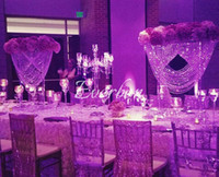 80cm hoch Hochzeit Kristallherzhochzeitsdekoration Blumenständer Kronleuchter Zeremonie Jahrestag Parteidekor