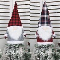 Большой гном рождественской елки Топпер рождественские украшения 25 дюймов Большой Санта Гномы Плюшевые Скандинавский украшения JK2008XB
