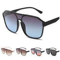 Moda mulheres homens óculos de sol siamese lente óculos de sol voando óculos anti-uv espetáculos enorme quadro de grandes óculos adumbral a ++