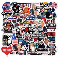 FedEx expédition en gros 50pcs / pack President Trump Graffiti Stickers Voiture Bagage Casque d'ordinateur portable Skateboard Skateboard Decal Jouets pour enfants