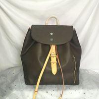 N41578 الجديدة عالية الجودة سبيروني ظهره جلد نساء حقائب سفر المرأة حقائب أزياء كلاسيكية زهرة على ظهره حقيبة الرياضة 41578