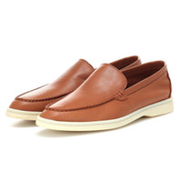 Spring real leather Flats Shoes Women Simple Comfortable Slip On lazy loafers Causal Walker Shoes suede driver