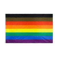 8 Designs Direkte Fabrikgroßhandel 3x5FTs 90x150cm Philadelphia Phily Gering Ally Fortschritt LGBT Rainbow Gay Pride Flagge