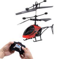 Mini RC helicóptero aviones no tripulados Infraed inducción de 2 canales electrónicos divertido Suspensión de control remoto Aviones Quadcopter Drone niños de juguete