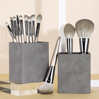 Make up Brushes Luxury Vegan Professional Private Label 12pcs Maniglia in legno Sintetico Trucco per capelli Pennello per la pulizia Pennello cosmetico