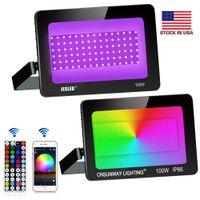 LED-Flutlicht Outdoor Aluminium 30W 50W 100W 200W SMD 5050 LED-Flutlicht Wasserdicht IP66 RGB Weiß Warmweiß + US-Bestände