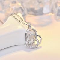 2020 дизайнера S925 серебро смарт сердцебиения ожерелье женщин корейской версии простой студент темперамент творческого сердца кулон короткого замыкания