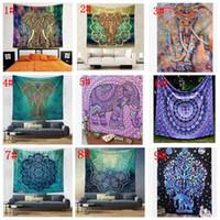 150 * 130cm Tapisserie Wandbehang indische Mandala böhmischer Tapisserie Hippie Tapestry Polyester-Wand-Dekor Dorm Decor KKA4499