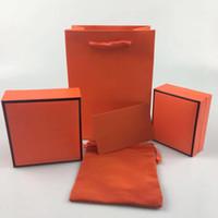 Caja de pulsera, caja de collar, caja de joyería Embalaje original, certificado de tarjeta de garantía Bolso de franela Bolso, caja de regalo envío gratis