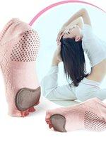 Sports Socken Frauen Kuh Leder Silikon Rutschfeste Yoga Dämpfung Finger Finger Pilates Fitness Ballett Atmungsaktiv Gut Griff