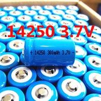 10pcs 1 / 2AA 14250 300mAh 3.7V 3.6V 300mAh 1/2 AA batteries au lithium pour l'électricité compteur d'eau GPS LS14250 er14250 li io