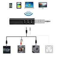 Clip-on Wireless AUX Bluetooth 4.1 Receiver for Car Headphone Speaker 3.5mm Bluetooth Audio Music adapter Jack with Mic