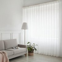 الأبيض تول الستار لغرفة المعيشة الديكور الشيفون الحديثة الصلبة شير الفوال الستار مطبخ فندق النافذة تول