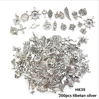 Mixed 200pcs Jewelry Accessory Charms Alloy Tibetan Silver A...