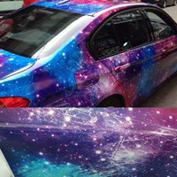 Grafische Sticker Bom Galaxy Vinyl Film Wrap Galaxy Starry Camouflage Auto Wrap Folie met Air Release Bubbels gratis