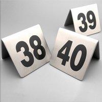 Numero 1-100 Tavolo in acciaio inox Numeri in acciaio inox Schede Metallo Numero Segnaletica Segnaletica Segno Scheda Ristorante Hotel Cafe Bar Numeri BH0595 BC