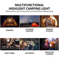 Lampe d'urgence Camping 7800mAh Veilleuse DC Interfac lecture ampoule Tente lanterne Portable Charging USB LED