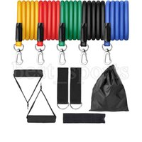 11pcs/set Exercise Resistance Bands Set Expander Yaga Pull Rope Gym Training Fitness Band Home Workout Sports Supplies CYZ2692