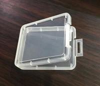 작은 투명한 플라스틱 카드 케이스 왁스 농축 컨테이너 건조 허브 산산조각 포장 SD 카드 상자 사용자 지정 라벨 스티커