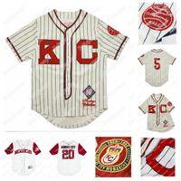 Kansas City Monarchs NLBM Negro Le Jersey de baseball 5 Jackie Robinson Kansas City City Monarchs Negro League Jersey Nom et Numéro