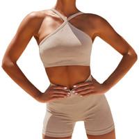 Yoga nueva transparente set Mujeres de la gimnasia verano de la ropa sujetador de los deportes pantalones de gimnasia fijaron a las mujeres de talle alto entrenamiento del deporte del chándal