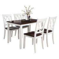 クラシック5ピースダイニングテーブルセットホームキッチンテーブルと椅子木製ダイニングセット(ホワイト+チェリー)US倉庫SH000088AAK