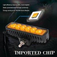 """4x 6"""" 8D Mercek 18W Çalışma LED Işık Bar Spotlight 3000K Tekne ATV Offroad Sürüş Lambası"""
