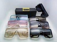 6933 Designer de luxe hommes et femmes Marque surdimensionné Masque Lunettes de soleil mode Ovale Lunettes de soleil Protection UV Traitement des lentilles avec la boîte