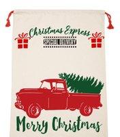 Regalo de Navidad 39style lienzo de Santa Sacos bolsas con asas de los regalos con los renos de Santa Claus saco Bolsa de Navidad Decoraciones de Navidad GGA3627
