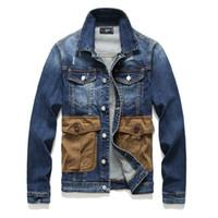 Designer Jacket Mens Denim com botões painéis Pockets Skate Moda Hip Hop Jackets soltas Casual Casacos Primavera Outono Coats