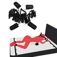 Lit sous Erotic Toys Sm système BDSM Bondage Set Flirter Menottes Leg ceinture de retenue Jeux Adult Sex Toy Couple T200813