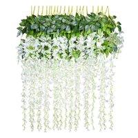 12 Pcs Handmade Wisteria Flower Hanging Arts Ceremony Home Wedding Decoration YU-Home