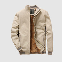 Herbst Herren Bomber Jacken Casual Male Outwear Vlies-starke warme Windjacke Military Baseball Coats Kleidung