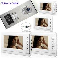"""7"""" vision interphone vidéo sonnette nuit 1000tvl porte caméra déverrouillage imperméable à l'eau pour le système téléphonique de porte vidéo appartement maison"""