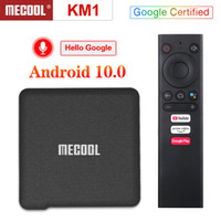 Mecool KM1 ATV Google Certificated Sprachsteuerung Smart TV Box 2.4G 5G 2T2R Wifi Bluetooth Android 10.0 TV Box 2GB 16GB Amlogic S905X3 BT