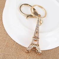 에펠 탑 키 체인 키 기념품, 파리 투어 에펠 라인 스톤 키 체인 열쇠 고리 장식 키 홀더