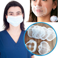 Adult Kids White Bracket Protect Lipstick Mask Cool Bracket More Space For Comfortable Breathing Washable Reusable Silicone Bracket HH9-3246