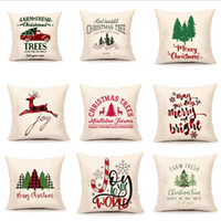 Weihnachten Pillowcase Abdeckung Leinen Sofa Dekokissen Covers gedruckt Pillowcase Cover Heim Pillowcase Abdeckung Weihnachten Supplies 10 BT628 Designs
