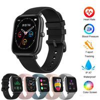 ID P8 الذكية ووتش الرجال للساعات النسائية IP67 للماء للياقة البدنية المقتفي الرياضة رصد معدل ضربات القلب Smartwatchs لمس كاملة لAmazfit GTS XIAOMI