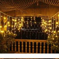 Connectable 4M Vorhang Zeichenfolge Lichter120LEDS LED Fairy Light Weihnachtslampen Eiszapfen Lichter Weihnachten Hochzeits-Party-Dekoration