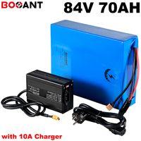 Grande potere 10KW 84V 70Ah scooter elettrico della batteria agli ioni di 23S 5000w di litio per Sanyo Panasonic LG 18650 + 10A caricatore