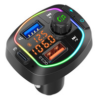 Auto Bluetooth 5.0 FM-Sender Wireless Freisprecheinrichtung Audio-Empfänger Auto MP3-Player 2.1A Dual USB-Fast-Ladegerät Autozubehör FM-Modulator