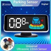 OKNAVI LED Parktronic exibição Estacionamento backup Sensor 6/8 Sensores Kit reverso Estacionamento Car Auto Radar 22 milímetros Sistema Detector Monitor de