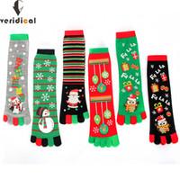 Мужские носки SOCKS VISIDIC 5 Пары / Лот Мужчины Женщины Смешные Мультфильм Печатный Носок Хлопок Пять пальцев Мода Мягкое Рождество