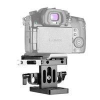 Caméra Freeshipping Cage plaque de base (Manfrotto) + 15mm Rail System Quick Support plaque de presse trépied plaque de montage -2039