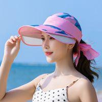 New Fischer Hut Sonnenhut weiblicher Sommer Sonnenhut Urlaub am Meer koreanischen Strand Hut mit Box Sonnenschutz Ausflug
