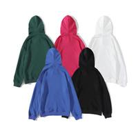 Gli uomini modo di alta qualità allentato pullover casuale delle donne con cappuccio Semplice Coppia Stampa Felpa con cappuccio Taglia M 2XL