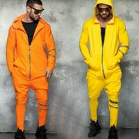 E-Baihui 2020 European and American New Men's Clothing Spring Hooded Sports Casual Suit Long-sleeved Trousers Solid Color Suit N70201