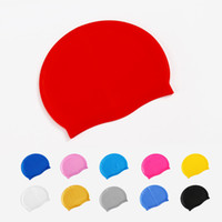 성인 청소년 실리콘 수영 모자 수영 모자 헤어 캡 방수 실리콘 수영 모자